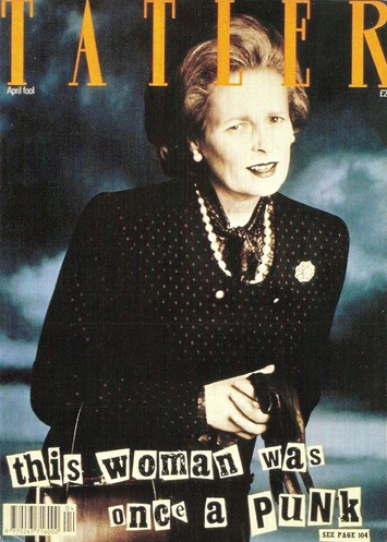 """""""This woman was once a punk"""" Tatler cover, Dazed Digital"""