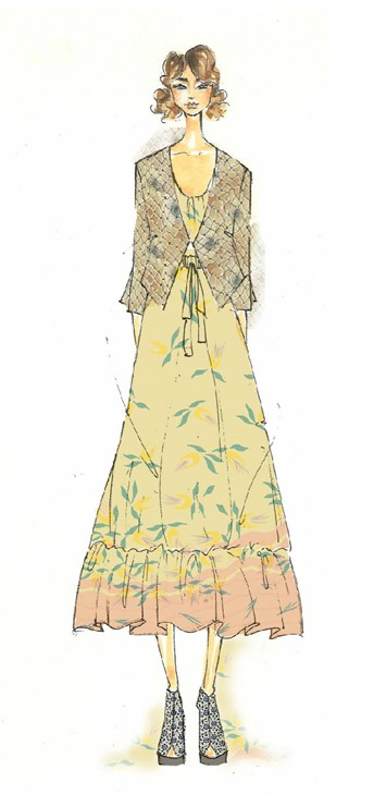 Exclusive design sketch: Suno Womenswear SS13