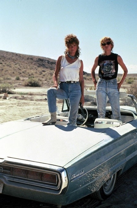 Thelma and Louise in girl power denim