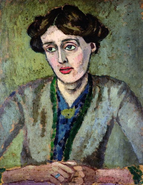 A portrait of Woolf by Roger Fry, circa 1917