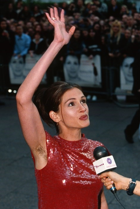Red carpet rebel girls Julia Roberts hairy armpits