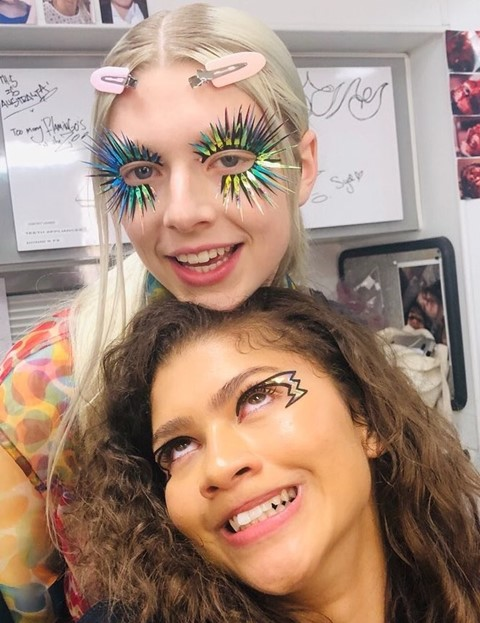 Euphoria makeup Zendaya Hunter Schafer