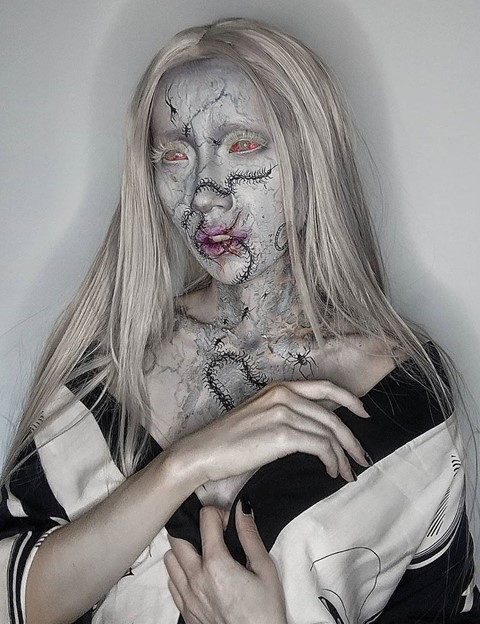 necropheliac ophelia liu glow up winner makeup