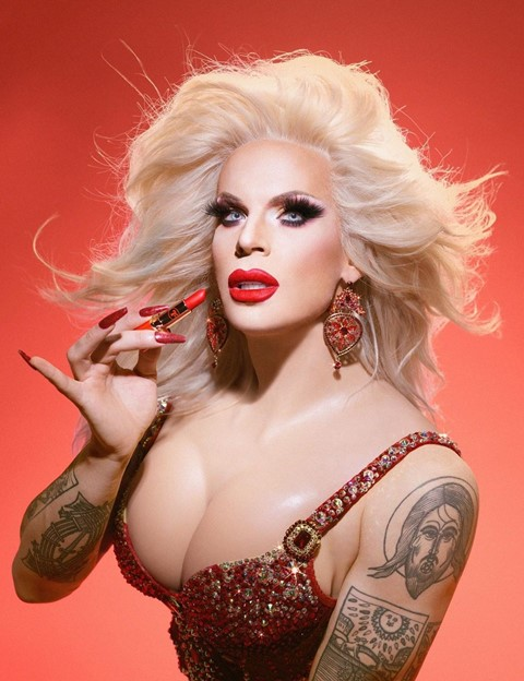trixie cosmetics Katya collaboration red scare
