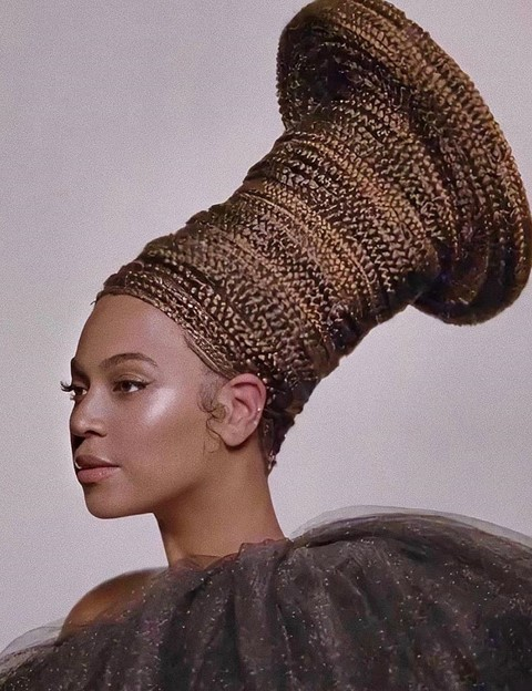 Beyonce black is king film hair looks