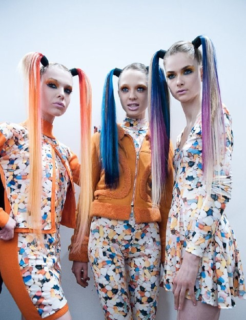 Backstage at Jeremy Scott AW11