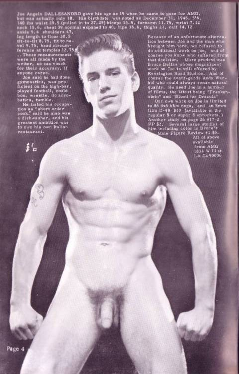 Joe Dallesandro in Physique Pictorial vol 17, no. 2-41 1969