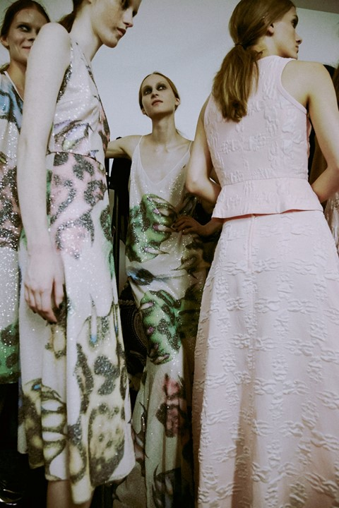 Backstage at Giles SS15