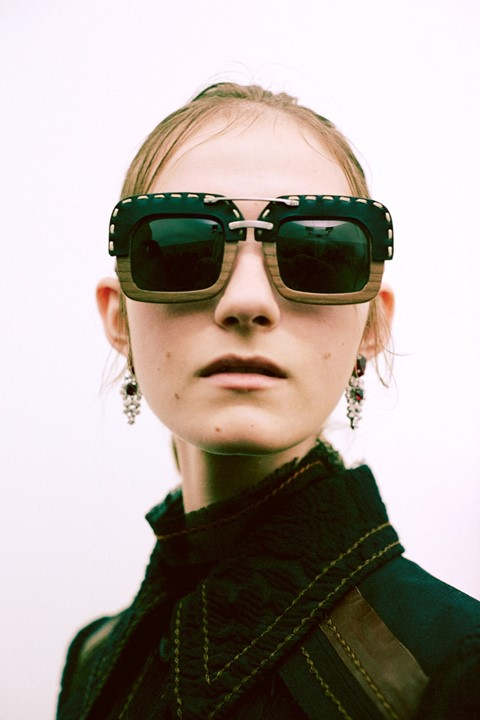 Prada SS15, womenswear, Dazed backstage