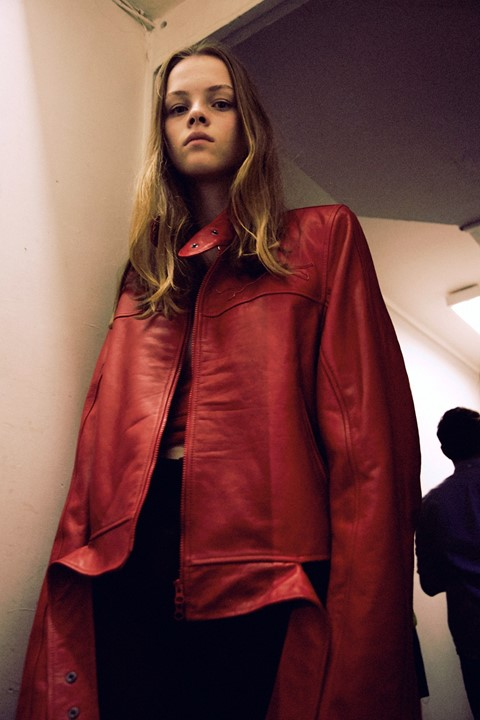 Backstage at VETEMENTS SS15