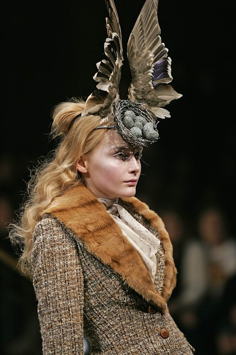 McQueen Savage Beauty birds nest headdresses