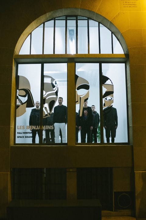 Les Benjamins AW15 Presentation Group Masks Window Display