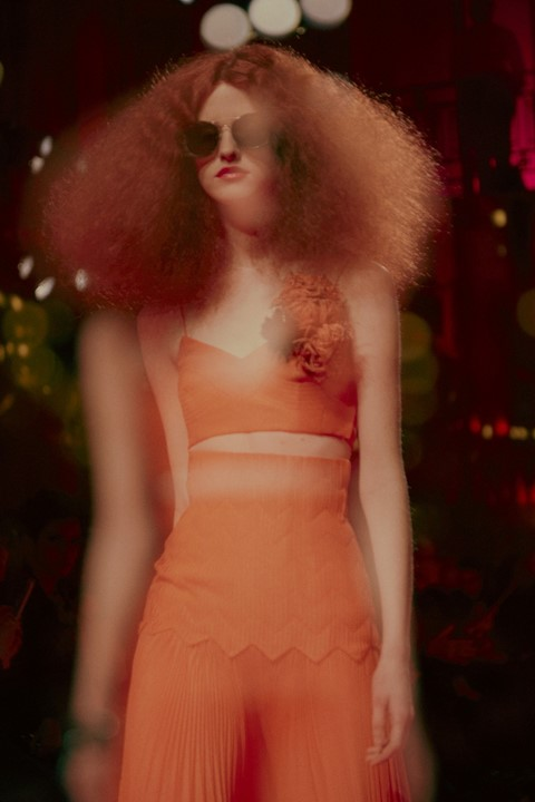 Schiaparelli Haute Couture AW15, 70's peach crop top, Dazed