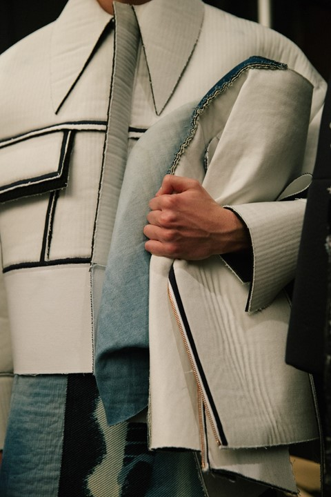 VFiles: XIMONLEE AW15 detail backstage white structured