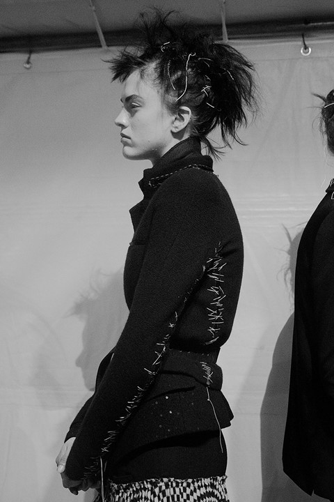 Haider Ackermann AW15, Dazed backstage, Womenswear, Paris