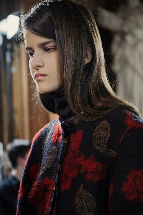 Astrid Holler (IMG) at Dries Van Noten AW15, Dazed new faces