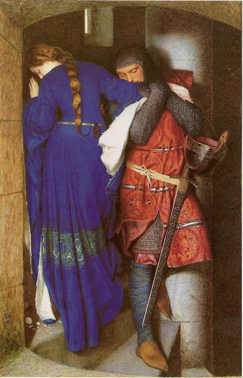 "Frederick William Burton ""Meeting on the Turret Stairs"""