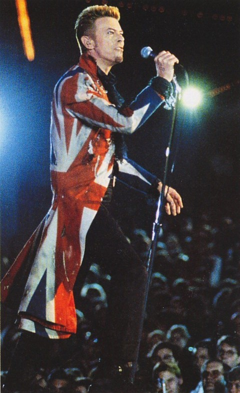 David Bowie, Union Jack coat by Alexander McQueen