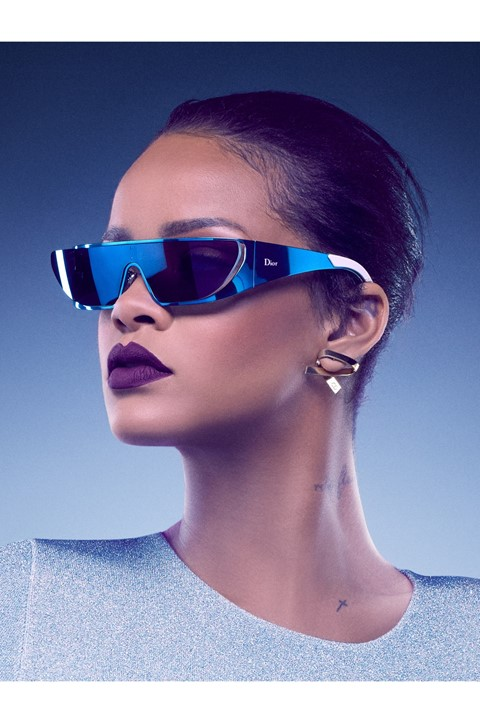 Rihanna has designed a sunglasses collection for Dior