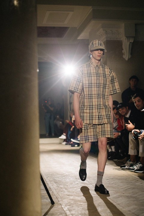 gosh rubchinskiy burberry check christopher bailey russia