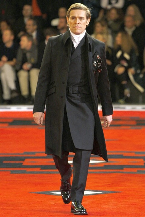 Willem Dafoe prada aw12 runway adrien brody actor