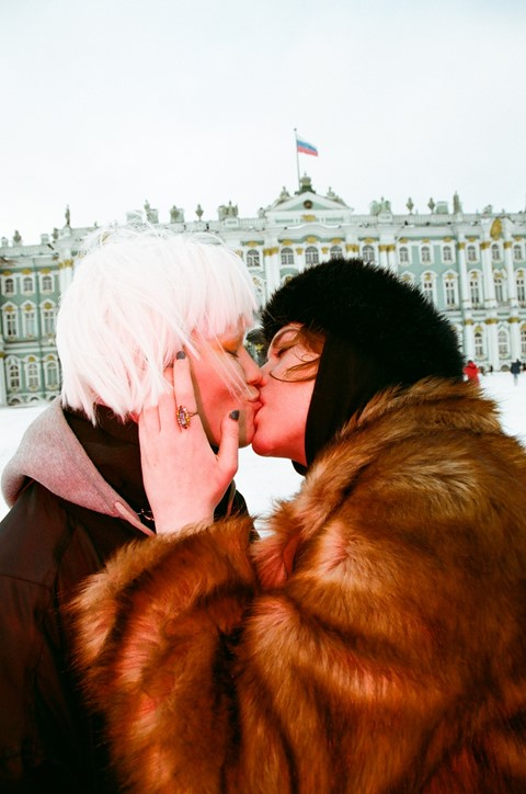 Photographing young Russian couples making out to protest anti-LBGTQ laws