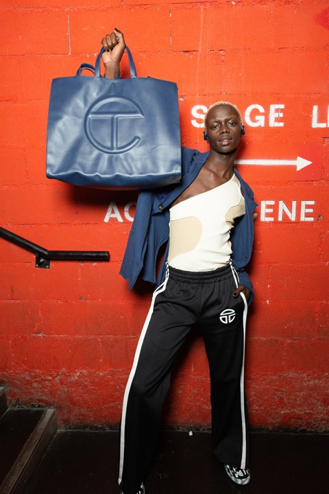 Backstage at Telfar SS20 3