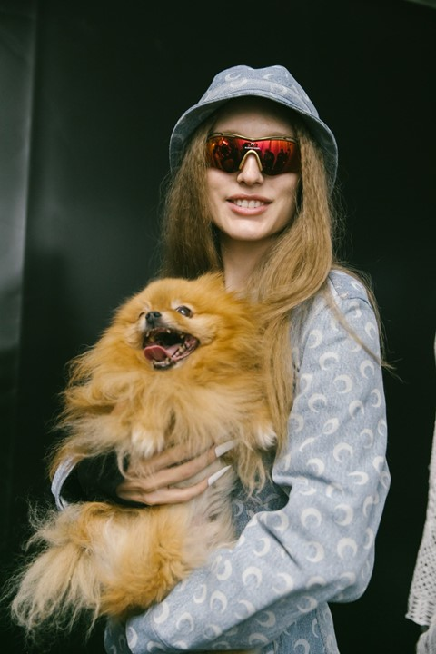 The stars of Marine Serre's SS20 show were two cute dogs