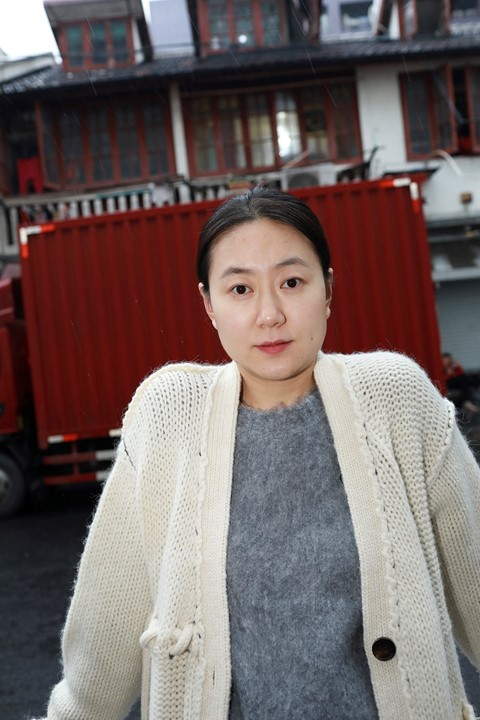 Lin Guan, lead designer at womenswear label Short Sentence