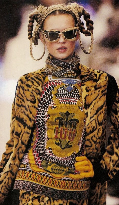 Jean Paul Gaultier SS94 Kate Moss tattoo tops