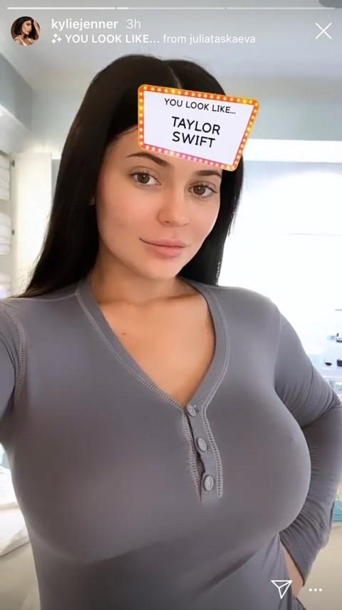 kylie jenner instagram filter ar quiz which celebrity