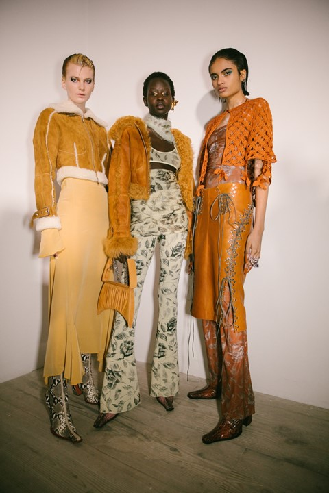 Backstage at the AW20 Charlotte Knowles show womenswear 8
