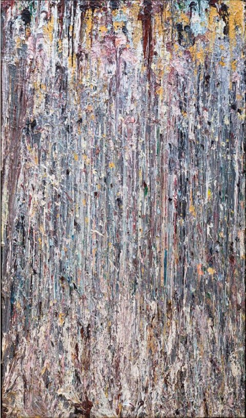 Larry Poons, Yellow Cat On Hand (1976)