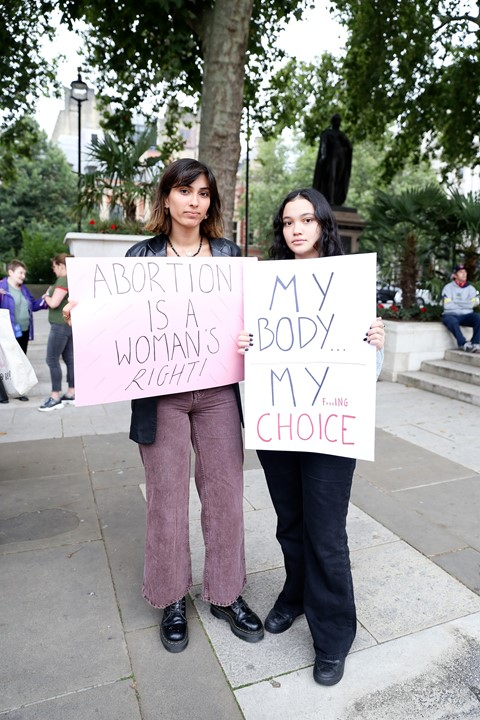 Texas abortion ban protest in London 20