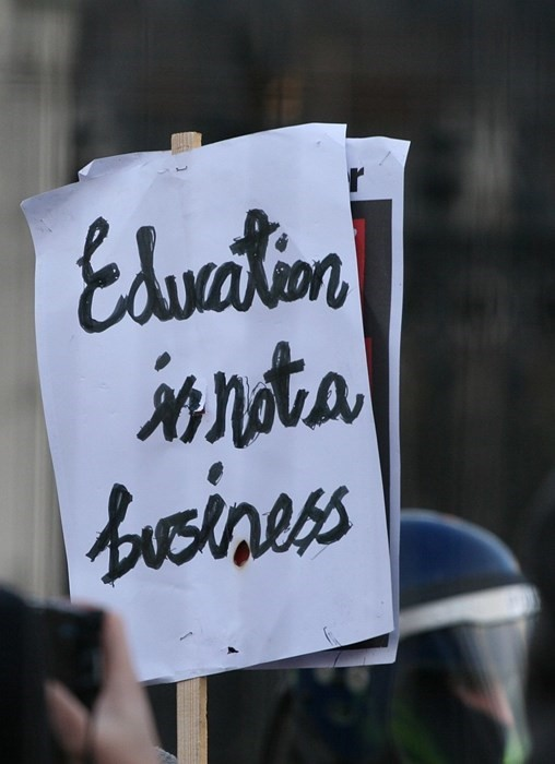 education protest placard