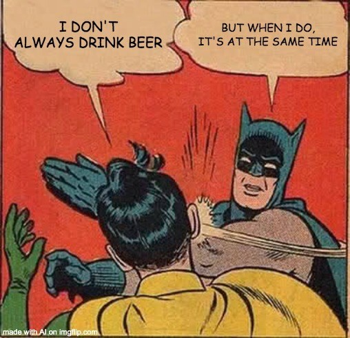 Batman slapping Robin AI meme