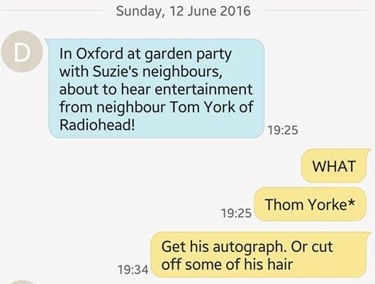 Thom Yorke Garden Party Text
