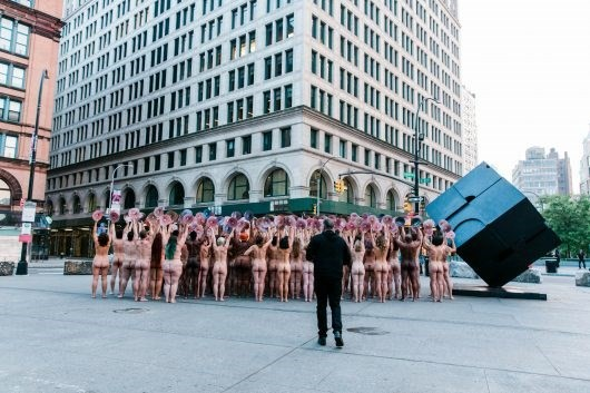 WeTheNipple protesters with Spencer Tunick