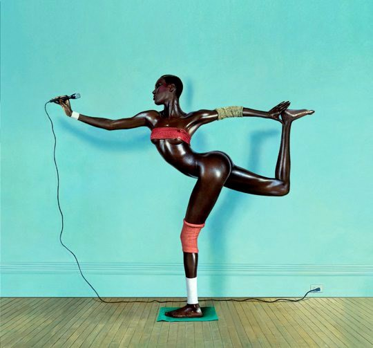 Grace Jones on the cover of 'Slave to the Rhythm'