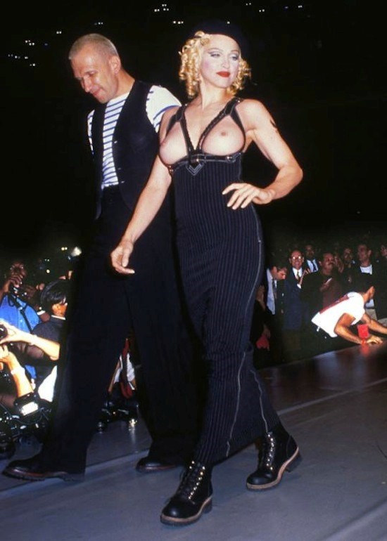 Madonna joins Jean Paul Gaultier on the runway in 1992