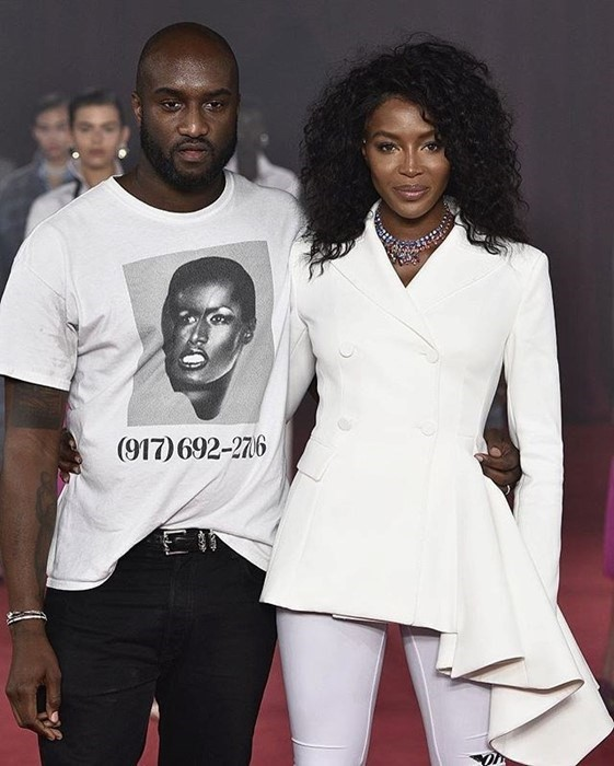 Naomi Campbell and Virgil Abloh