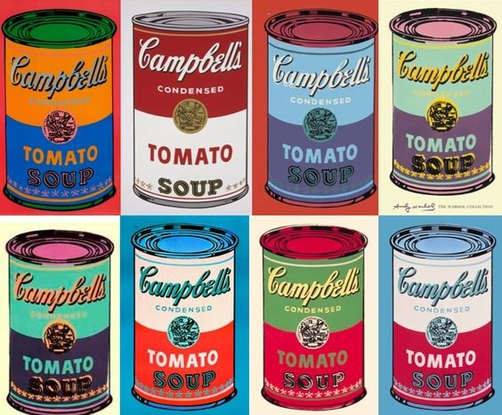 andy warhol soup pinterest