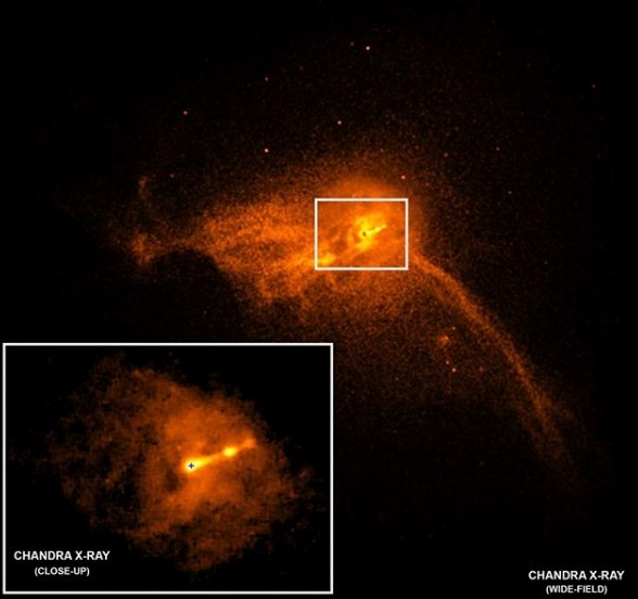 The first existing photo of a black hole