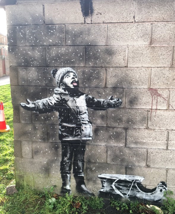 New Banksy in Port Talbot