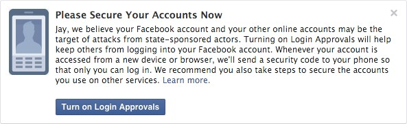 FB government warning