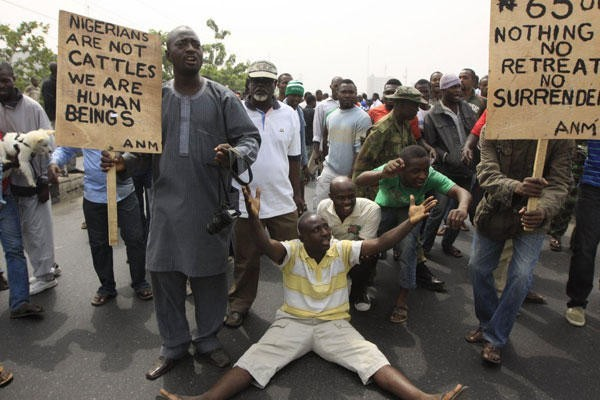 Nigerians at Occupy Nigeria protests