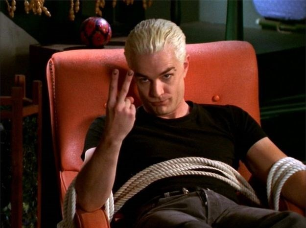 Spike from Buffy The Vampire Slayer bleached-blonde boys