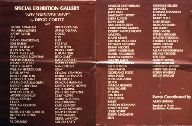 The participating artists in New York/New Wave