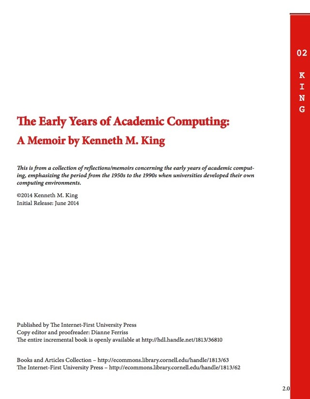 """""""The early years of academic computing"""""""