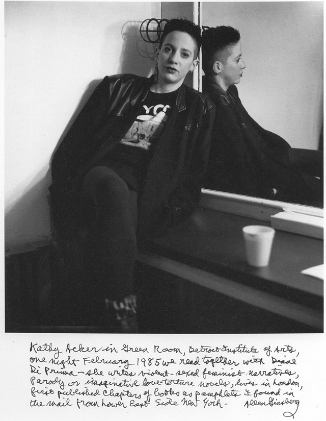 Kathy Acker, photographed by Allen Ginsberg